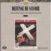 SOUNDTRACK - DEFENSE DE SAVOIR
