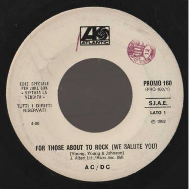 AC / DC - GINO SOCCIO - FOR THOSE ABOUT TO ROCK ( WE SALUTE YOU) - IT'S ALRIGHT