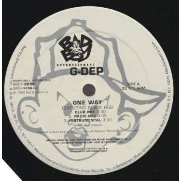 G-DEP feat BLACK ROB - PROMO - ONE WAY ( CLUB MIX - RADIO MIX - INSTRUMENTAL )