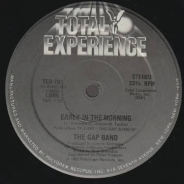 GAP BAND THE - EARLY IN THE MORNING ( LONG - SHORT )